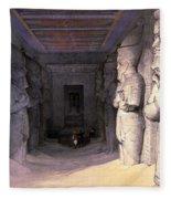 Abu Simbel Temple, 1838 Fleece Blanket