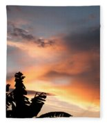 Abuja Sunset Fleece Blanket