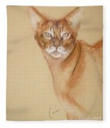 Abyssinian Fleece Blanket