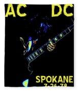 Ac Dc Rocks 2 Fleece Blanket