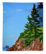 Acadia Lighthouse Fleece Blanket