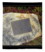 Acadia National Park Centennial Plaque Fleece Blanket