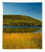 Acadia, National Park Shoreline And Marsh Maine Fleece Blanket