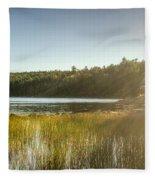 Acadia National Park Shoreline In Evening Sun Fleece Blanket