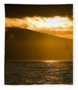 Acadia National Park Sunset Fleece Blanket
