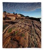 Acadia Rocks Fleece Blanket