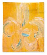 Acadian Flower Fleece Blanket