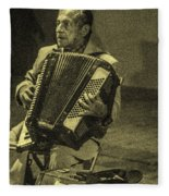 Accordion Player Fleece Blanket