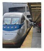 Acela Train 14bos072 Fleece Blanket