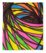 Aceo Abstract Spiral Fleece Blanket