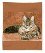 Aceo Maine Coon Cat Fleece Blanket