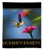 Achievement  Inspirational Motivational Poster Art Fleece Blanket