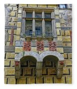 Achitecture Of The Little Castle Within Cesky Krumlov In The Czech Republic Fleece Blanket