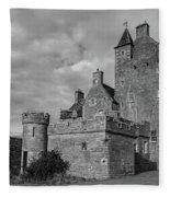 Ackergill Tower 1119 Bw Fleece Blanket