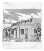 Acoma Sky City Fleece Blanket