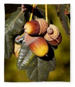 Acorn Cluster Fleece Blanket