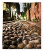 Acorn Street Cobblestone Detail Boston Ma Fleece Blanket