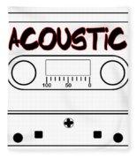 Acoustic Music Tape Cassette Fleece Blanket