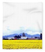 Acres Of Daffodils Fleece Blanket