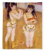 Acrobats At The Cirque Fernando Francisca And Angelina Wartenberg 1879 Fleece Blanket