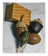 Acrons And Cicada Fleece Blanket