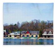 Across From Boathouse Row - Philadelphia Fleece Blanket