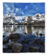 Across Jenny Lake Fleece Blanket