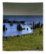Across The Bridge Fleece Blanket