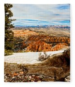 Across The Canyon Fleece Blanket
