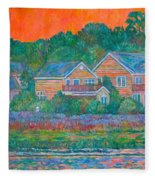 Across The Marsh At Pawleys Island       Fleece Blanket