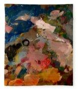 Acryl Color Abstract Fleece Blanket