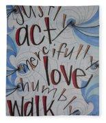 Act Love Walk Fleece Blanket