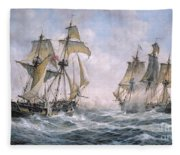 Action Between U.s. Sloop-of-war 'wasp' And H.m. Brig-of-war 'frolic' Fleece Blanket