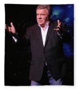 Actor And Comedian William Shatner Fleece Blanket