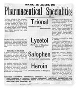 Ad For Bayers Drugs, Including Heroin Fleece Blanket