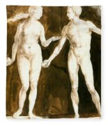 Adam And Eve 1504 Fleece Blanket