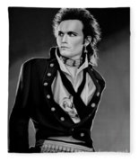 Adam Ant Painting Fleece Blanket