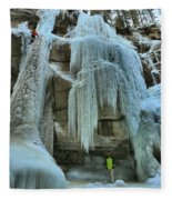Adam Jewell At Maligne Canyon Fleece Blanket