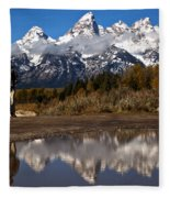 Adam Jewell At Schwabacher Landing Fleece Blanket