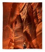 Adam Jewell In Buckskin Slot Canyon Fleece Blanket