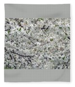 Adams County White-out Fleece Blanket
