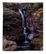 Adams Falls Pa Autumn Fleece Blanket