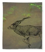 Addax Antelope Fleece Blanket