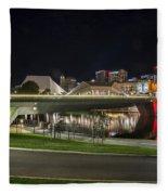 Adelaide Riverbank At Night II Fleece Blanket