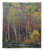 Adirondack Birch Foliage Fleece Blanket
