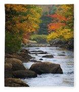 Adirondack Fall Stream 2 Fleece Blanket