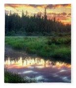 Adirondack Sunrise Fleece Blanket