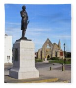 Admiral Lord Nelson And Royal Garrison Church Fleece Blanket