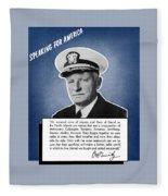 Admiral Nimitz Speaking For America Fleece Blanket
