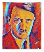 Adolf Hitler, Leaders Of Wwii Series.  Fleece Blanket